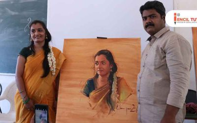 Portrait Painting Demo by Artist Elayaraja – Life Painting