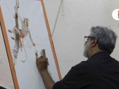 Conceptual Watercolour Painting Demo by Shri Vasudeo Kamath