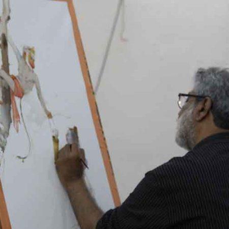 Conceptual Watercolour Painting Demo by Shri Vasudeo Kamath