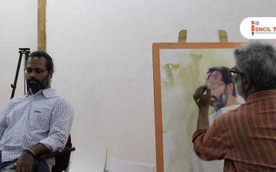 Portrait Painting Demo – Vasudeo Kamath