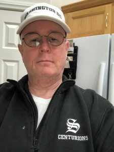 Wearing my Saugus High School fleece pullover the day after a shooting at the school. 15 November 2019