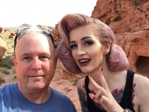 Selfie with Suicide Girl, Avrora, after our photo session at Valley of Fire State Park, Nevada in 2018.