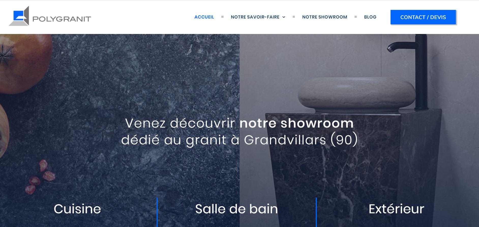 Nouveau site internet - Polygranit