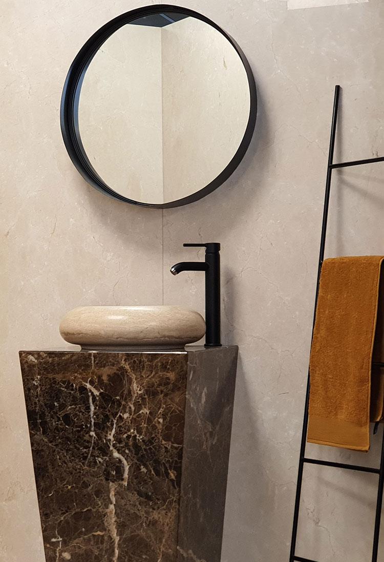 Meuble vasque en granit pour salle de bain