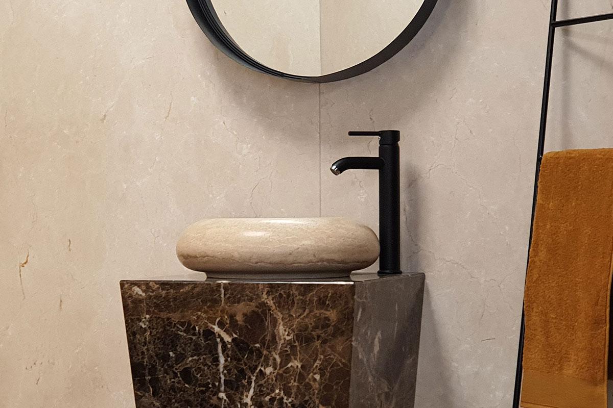 Réalisation sur-mesure pour votre salle de bain en granit