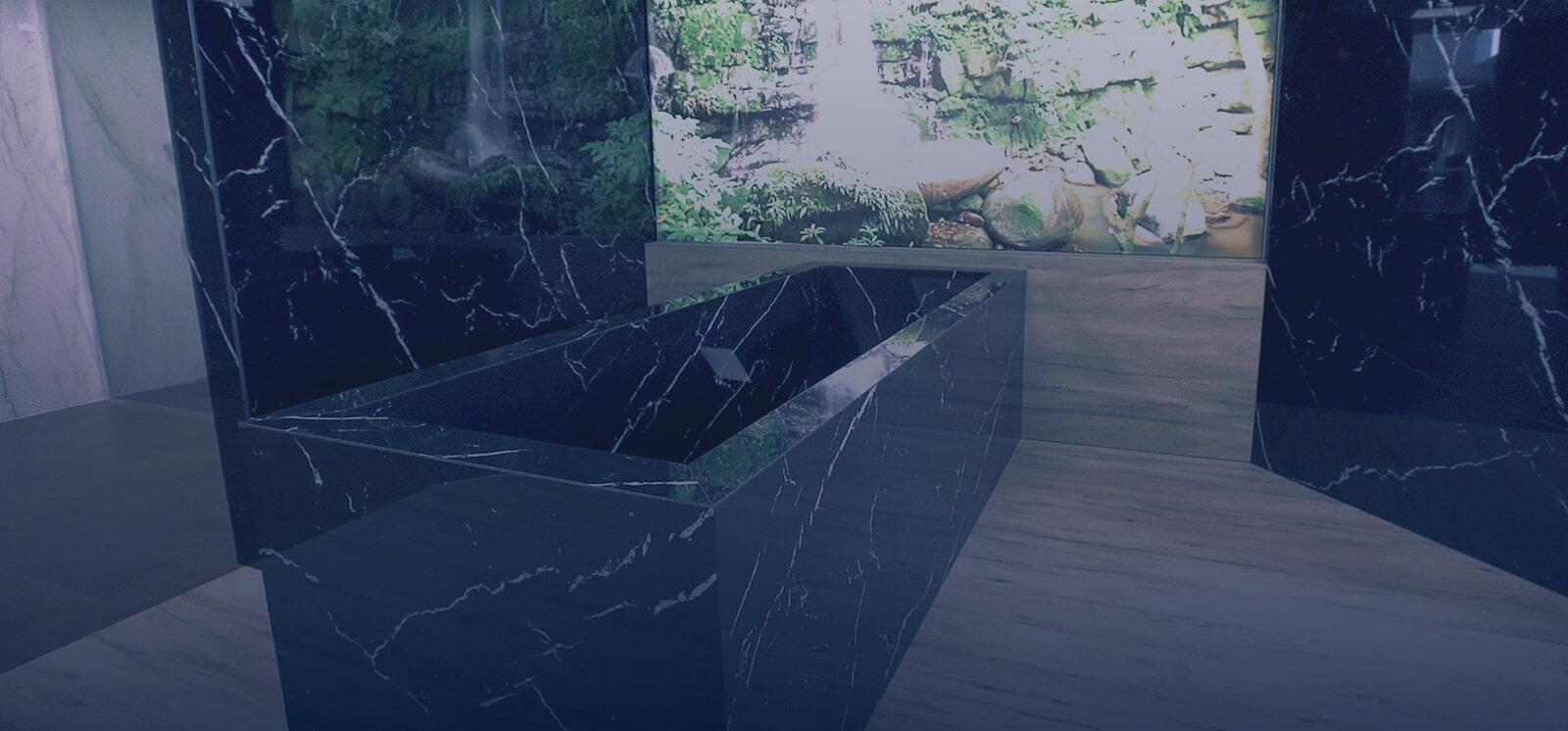 Salle de bain en granit