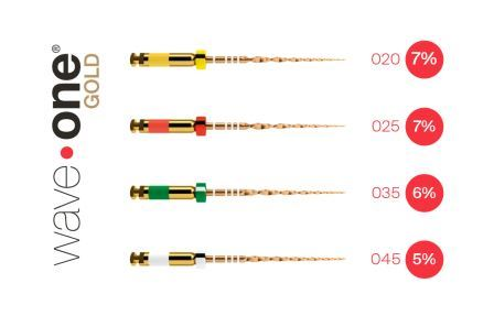 Wave One Gold ace endo Dentsply LICHIDARE