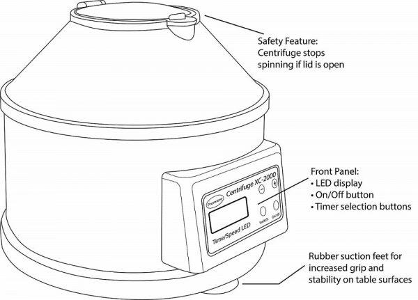 Centrifuga XC 2000 digitala 6 eprubete pt PRF PRP