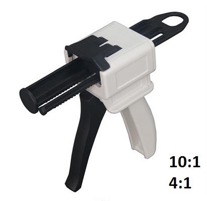 Pistol aplicator materiale cu mixare 10:1 4:1 dozator automixant