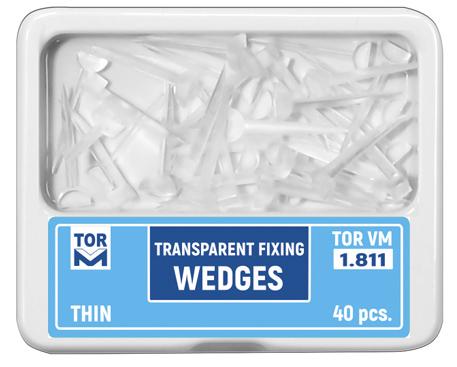 Icuri pene interdentare mici plastic transparent 1811 40 buc THIN