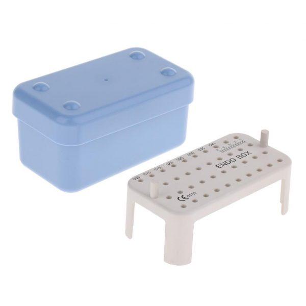 Cutie sterilizare din plastic pt ace endo cu rigla 40 ace