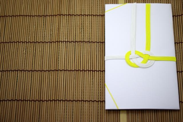 黄白の不祝儀袋