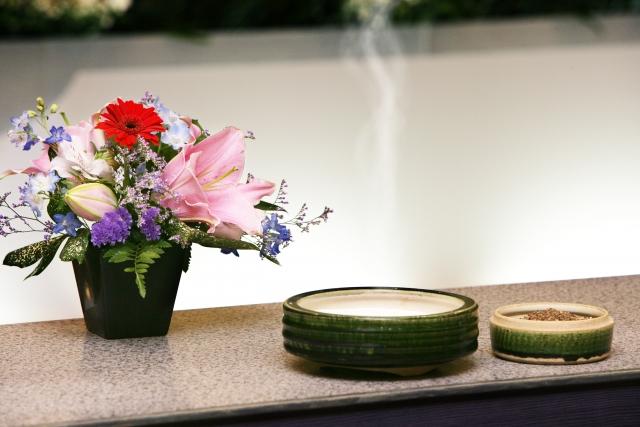 お焼香と供花