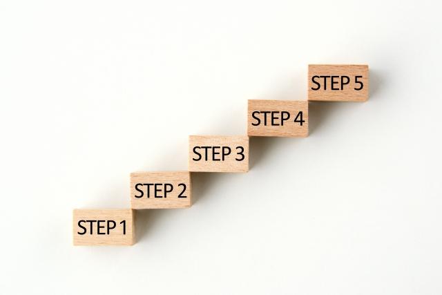5段階のステップ