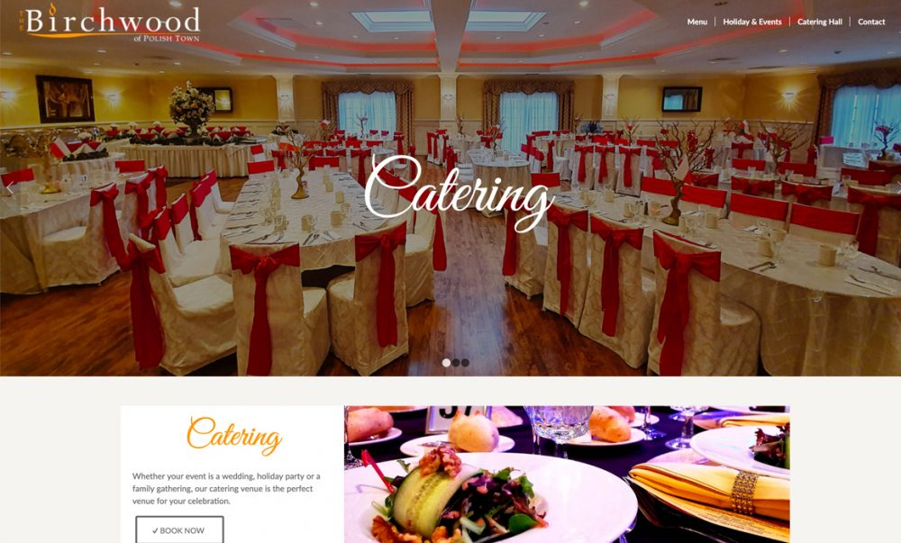 Birchwood Catering Website Layout