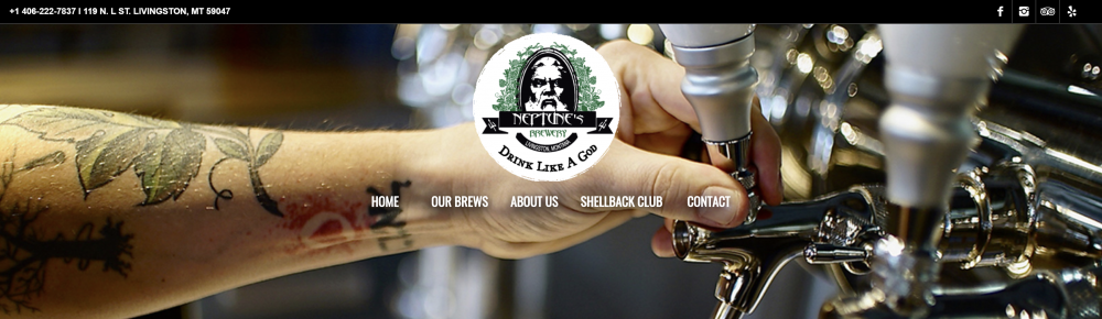 Neptune Brewery Clean Layout Website
