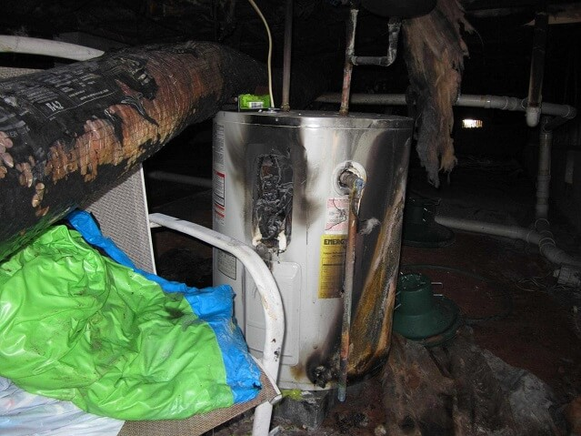 water heater fire
