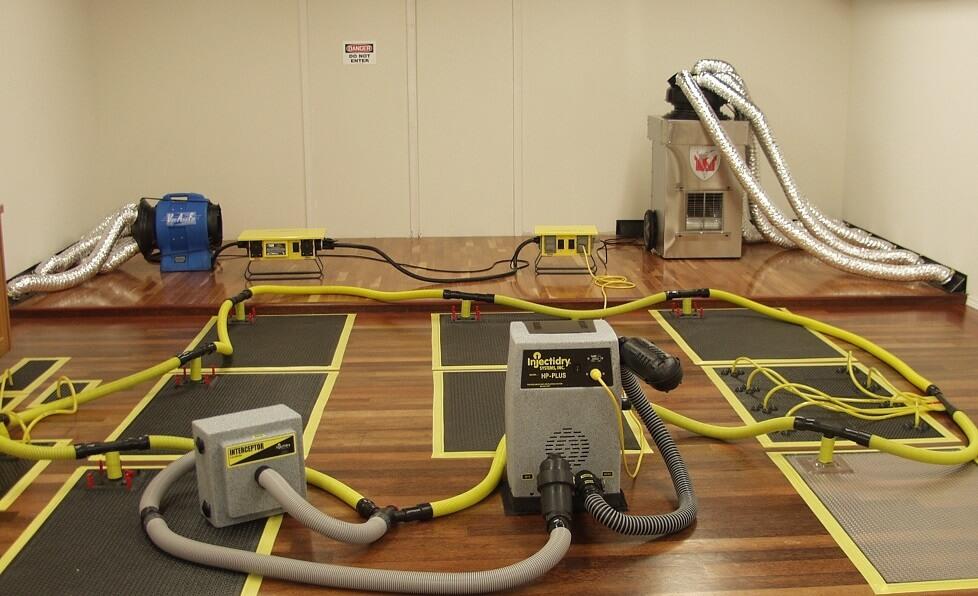 hardwood floor drying mats