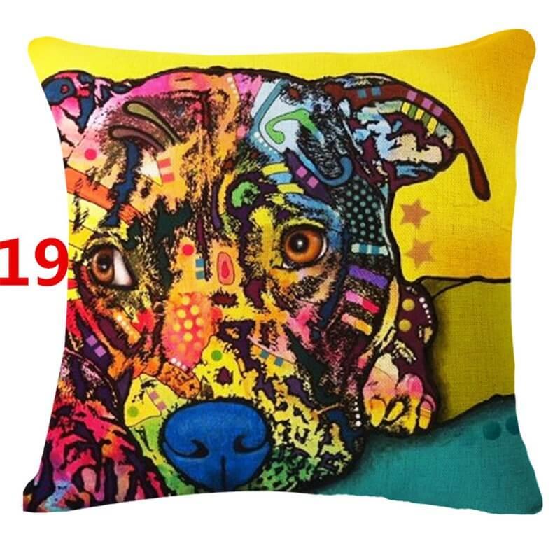 Pop Art Dog Pillows Pup Headquarters