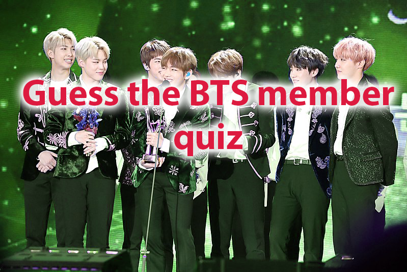 Guess the BTS member Start playing  quiz and find your perfect match! 1