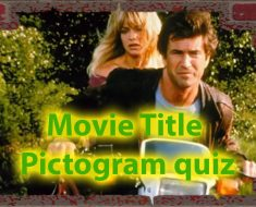 Movie title pictogram quiz - How skilled you are with pictograms 32