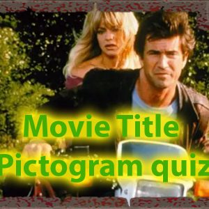 Movie title pictogram quiz - How skilled you are with pictograms 52