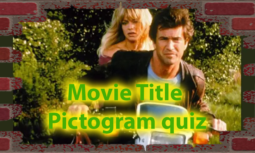 Movie title pictogram quiz - How skilled you are with pictograms 24