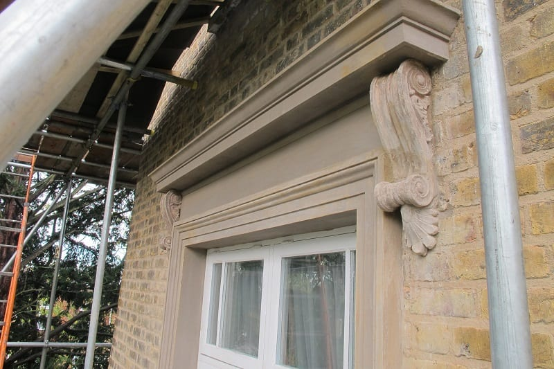 Decorative Render with Moulded Work