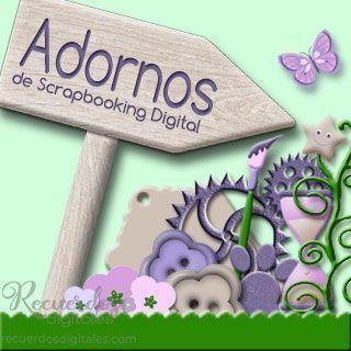 Adornos de Scrapbooking Digital, de Recuerdos Digitales: decora las páginas de tus álbumes