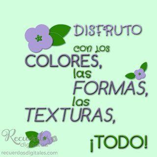 Disfruto con los colores, las formas, las texturas, ¡todo! Recuerdos Digitales, Scrapbooking Digital en español