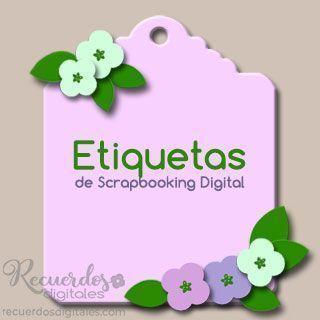Etiquetas oTags para Scrapbooking Digital, Recuerdos Digitales, escribe tus historias o Journaling