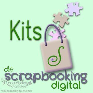 Kits de Scrapbooking Digital, de Recuerdos Digitales. Conjunto de papeles y elemento, coordinados en temática y color
