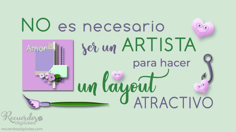 No es necesario ser un artista para hacer una página atractiva. Sé consciente de tu creatividad. Crear un layout es una forma de expresarte. Todas, ¡todas!, las personas tenemos la capacidad de crear. ¡Tú también!