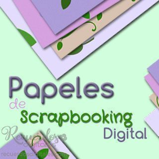 Papeles de Scrapbooking Digital, para tus Páginas de álbum, de Recuerdos Digitales