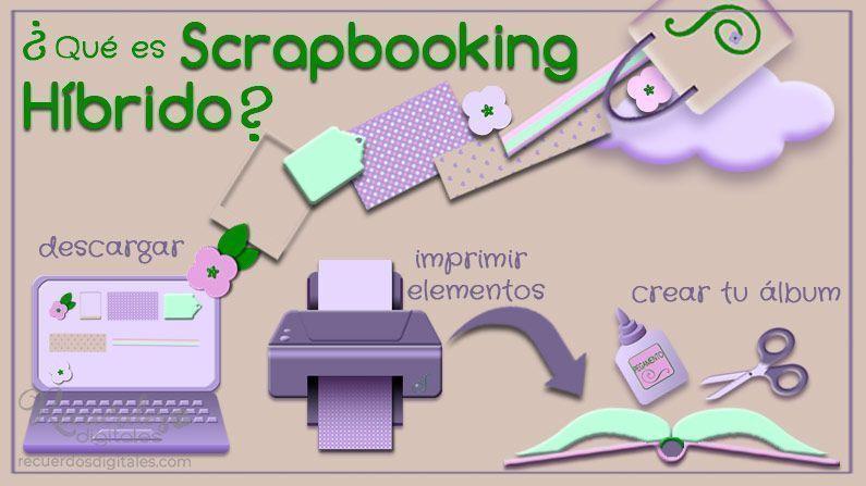 El Scrapbooking Híbrido es una combinación de Scrapbooking Tradicional y Scrap Digital. Este tipo de Scrapbooking incorpora aspectos positivos de ambos.