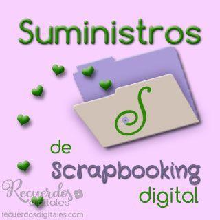 Suministros de Scrapbooking Digital, de Recuerdos Digitales, para tus álbumes de fotos