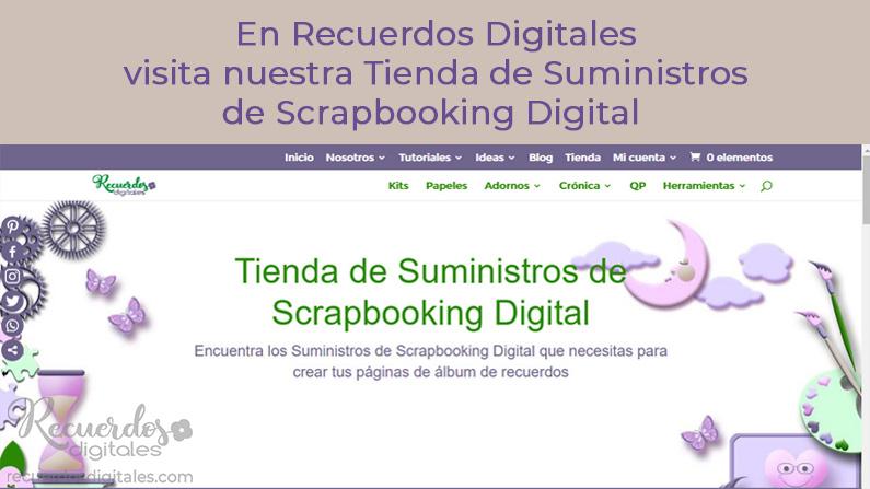 Entra en la Tienda de suministros de scrapbooking digital