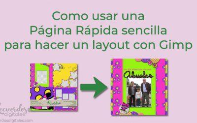 Como usar una Página Rápida sencilla para hacer un layout con Gimp