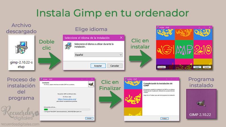 Instala Gimp en tu ordenador
