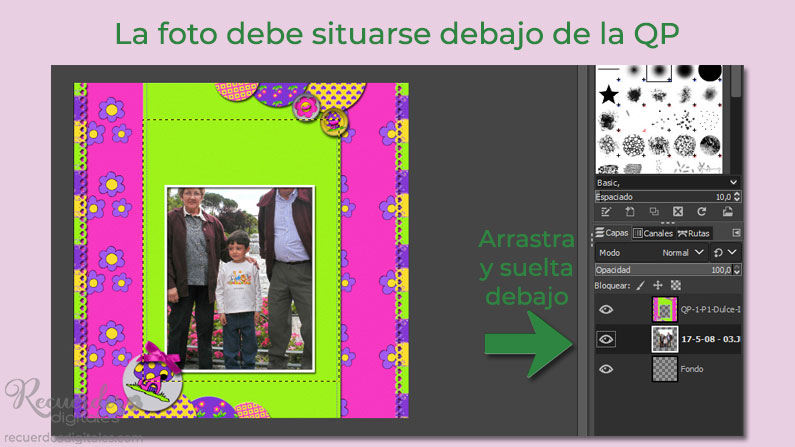 Añade la foto a tu layout