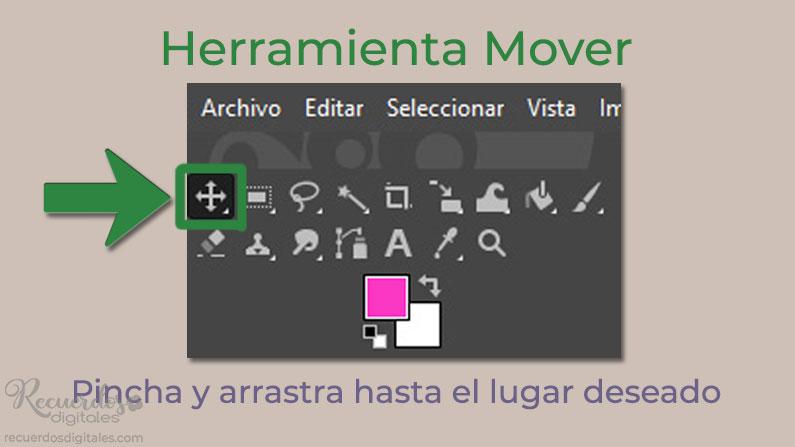 Sitúa las letras usando la Herramienta Mover
