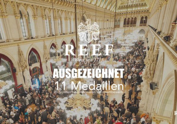🍾Erneute Auszeichnungen für REEF-Weine