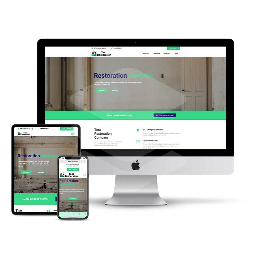 water-damage-website-design