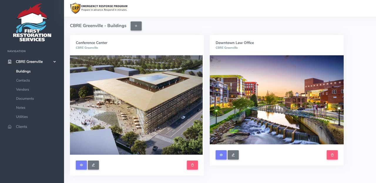 commercial online disaster plan platform