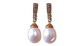 Dije perla de gota, 14 K. GN