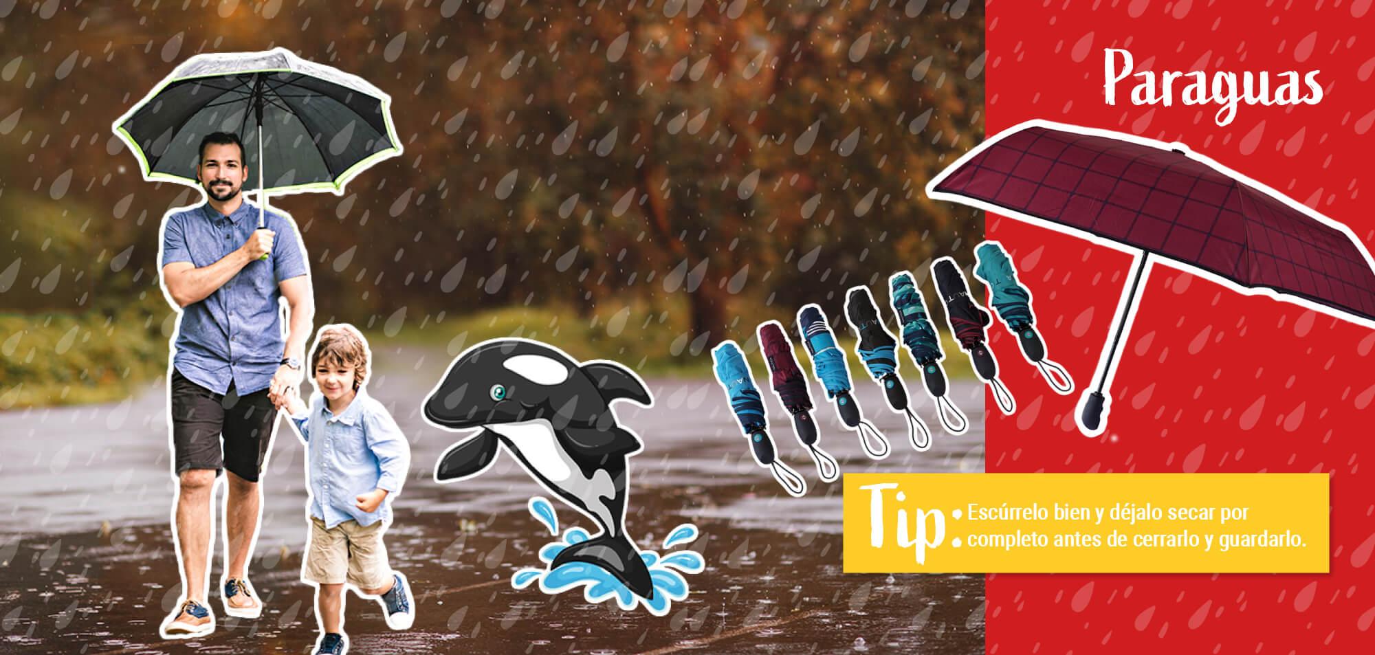 Outfit de lluvia para toda la familia