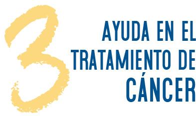 3. Ayuda en el tratamiento de cáncer