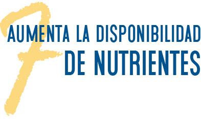 7. Aumenta la disponibilidad de nutrientes