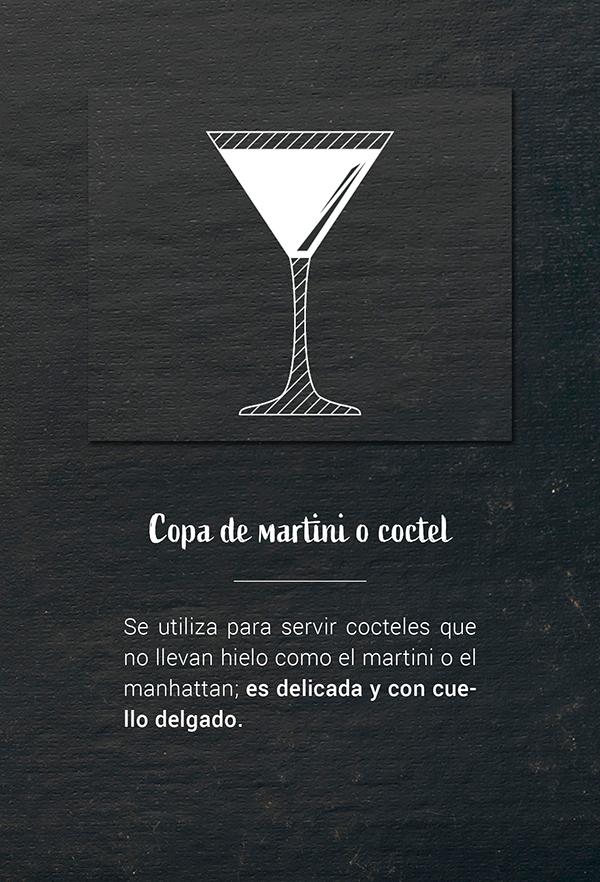 Copa de martini o coctel