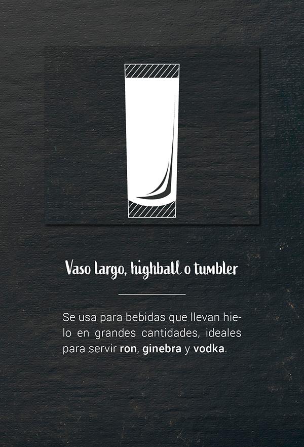 Vasos y copas para cocteles